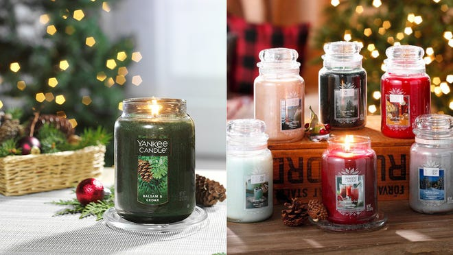 You can snag two large candles for $40 at Yankee Candle right now.