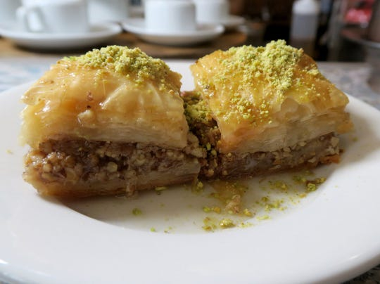 A plate of baklava at 'The Baklava Lady,' a vegan Turkish cafe that opened recently in Englishtown.