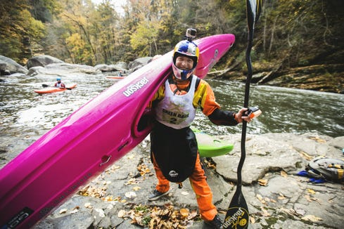 Dane Jackson stands for a portrait at The Green Race on Nov. 1, 2014. Jackson, a world champion kayaker from Tennessee, will defend his title at the Green River Narrows Race Nov. 2.