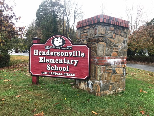 Hendersonville Elementary School at 1039 Randall Circle in Hendersonville as it appeared Thursday, Oct. 31, 2019.
