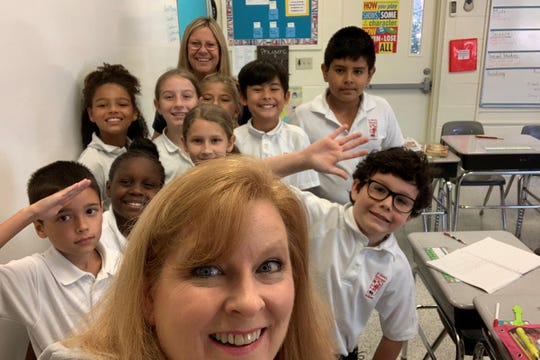 I went back to fourth-grade this week, and it was a blast. Pictured is Cindy Flickinger's class at St. Mark's Academy in Cocoa Village.