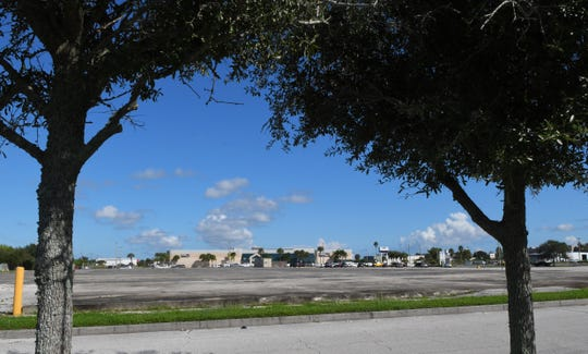 The large area to the south of Health First Pro Health, located across from Merritt Square Mall. Health First plans to relocate Cape Canaveral Hospital to Merritt Island.