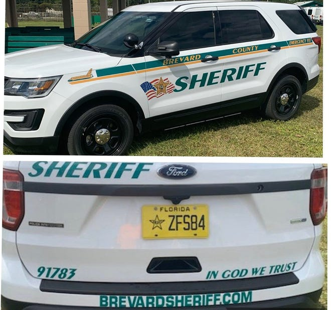 """An American flag and the """"In God We Trust"""" motto decals will appear on Brevard County Sheriff's Office patrol vehicles."""