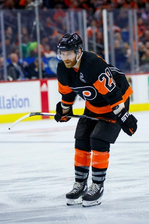 Claude Giroux's Flyers have been outscored 12-4 in their last two games. He's one of the players coach Alain Vigneault is asking to step up.