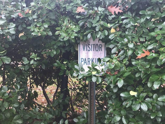 A parking sign no longer commands attention at the former Bancroft campus in Haddonfield.