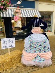 The deposed French queen lives again in scarecrow form outside High Five Cakes in Oct. 2019.
