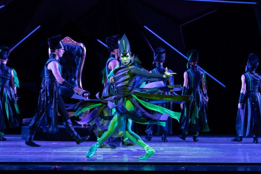 "Cincinnati Ballet first soloist Maizyalet Velázquez is seen here as the Wicked Witch of the West in the company's production of ""The Wizard of Oz,"" which runs through Nov. 3. Velázquez also performs the role of the cranky neighbor, Miss Gulch."