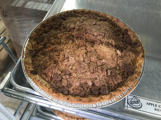 As always, Homestead Farm Market in Lambertville is ready for fall and the holidays - otherwise known as the season of the pie. Instead of the traditional apple pie, many people choose an apple crumb.