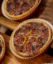 Pie and it's mini-me - the pie tart - are very popular options at the Profeta Farms Bakery in Readington. The pecan pie tart is one of many varieties of pie options at the organic market.