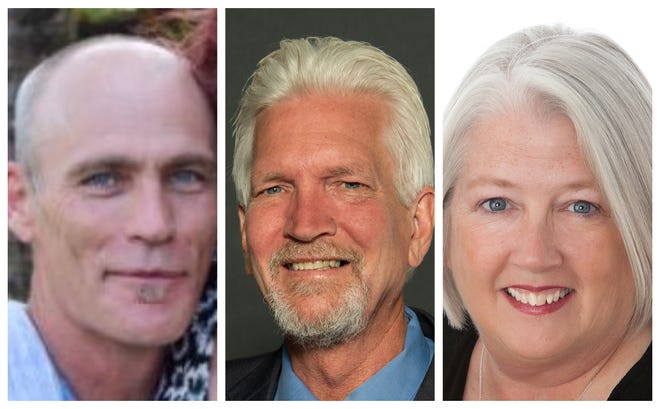 Des Moines Ward 2 candidates Jerry Davis, Skip Moore and Linda Westergaard.