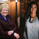 Former MSU trustee Nancy Schlichting, left, and former diversity director for Founders Graci Harkema.