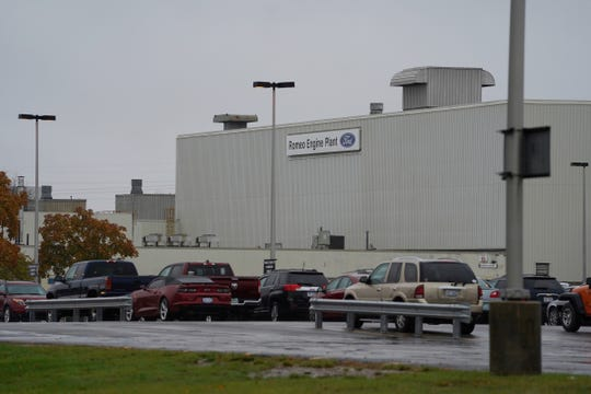 A section of the Ford Romeo Engine Plant is seen in Romeo on Thursday, October 31, 2019.