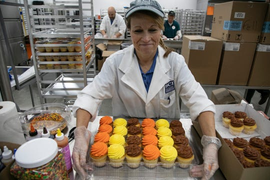 Holly Van Burkink of Roselle New Jersey will be training bakery staff at BJ's Wholesale that is opening it's first Michigan store in Madison Heights. Known for selling locally made items and having a deli the Free Press gets a sneak peek Wednesday, Oct 30, 2019.