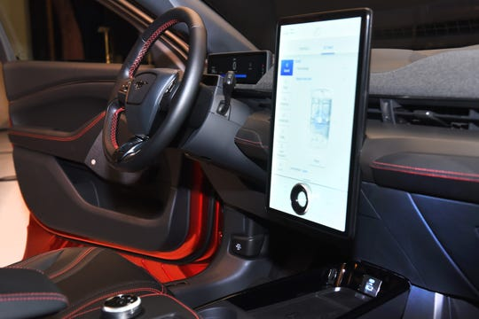 Ford's all-new Sync system will debut on a 15.5-inch vertical screen on the Mustang Mach-E.