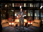 Grammy Award-winning musician Jack White gets ready to play a two-song acoustic set Wednesday night's fundraiser for the Kirk Gibson Foundation for Parkinson's.