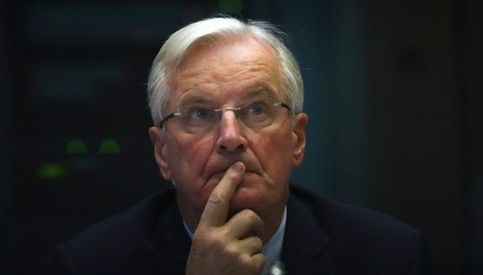 European Union chief Brexit negotiator Michel Barnier attends a debate on post-Brexit relations with United Kingdom at the European Parliament in Brussels, Wednesday, Oct. 30, 2019.
