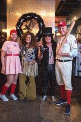 From left, Corey Scillian, Liz Cutraro, Nino Cutraro, and Devin Scillian at Nino's costume birthday party.
