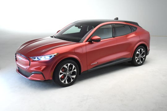 Ford's first fully electric SUV, the Mustang Mach-E, premiered Sunday night.