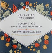 Fondy Nice cards are spreading like wildfire through the community.