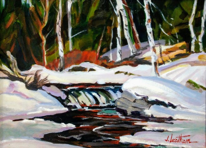"""Art works like this one by Jim Leatham, titled """"Winter Stream,"""" will be part of the 44th annual Juried Annual art exhibit at the Miller Art Museum in Sturgeon Bay. The exhibit opens Saturday, Nov. 9."""