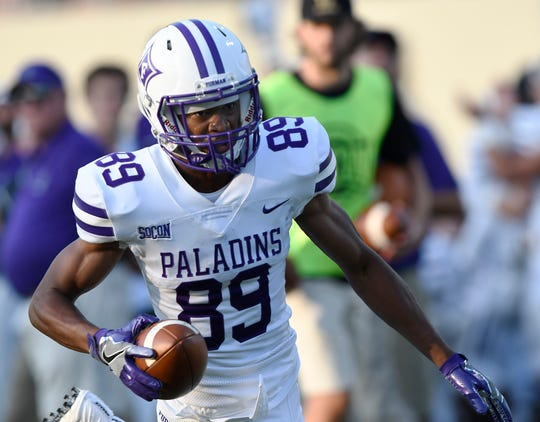 Thomas Gordon (89) leads Furman in receiving in 2019.