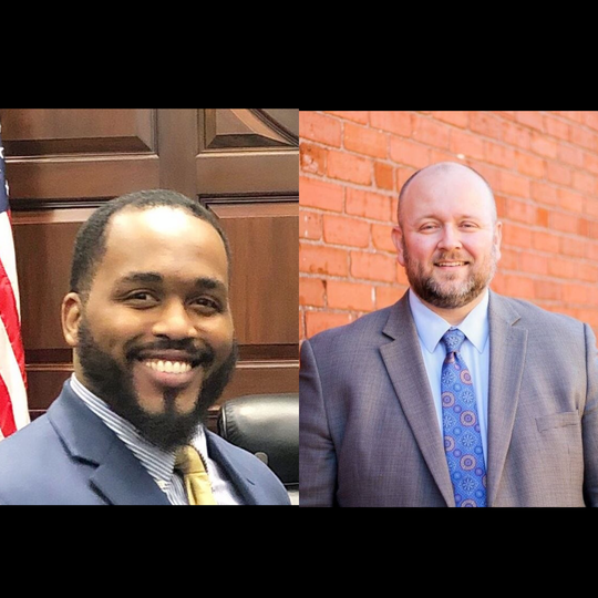 Greer District 3 City Council candidates Andrew Hopkins and Mark Hopper. District 3 is the only contested race in Greer's City Council Election this year.