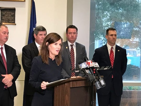 U.S. Attorney Sherri Lydon announces a new initiative to curb Upstate gun crimes on Thursday, October 31, 2019