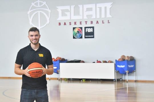 Brandon Rogers, a coach with Global Squad, is on Guam to run a 3-day basketball clinic at the Guam Basketball Confederation's National Training Center.