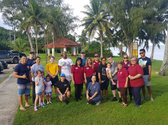 Guahan Ayudante Lions Club along with volunteers from Naval Hospital Guam did community service on Oct. 27 as part of their Adopt-A-Road program in Piti.