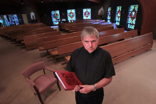 Father Mike Maginot performed an exorcism in St Steven Martyr Church in Merrillville. LaToya sat in this chair, and Father Mike used this rite, which he printed from the internet.