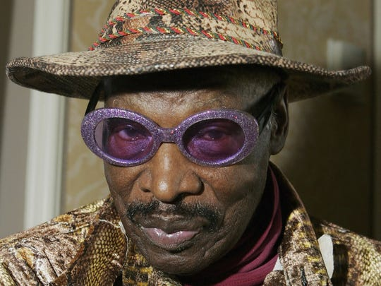 "Rudy Ray Moore, creator and star of the classic ""Dolemite"" films, attends a Las Vegas home video convention in 2005. Moore died in 2008."