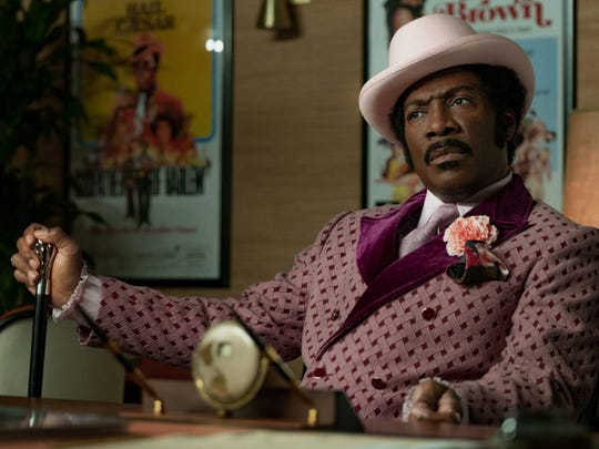 "Eddie Murphy portrays Rudy Ray Moore in Netflix film ""Dolemite Is My Name."""