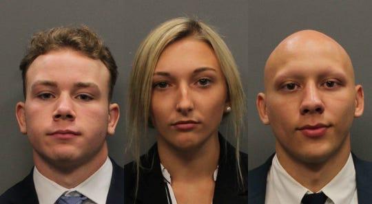 From left: Isaiah Brooks, Chelsea Hopson and Noel Leyva