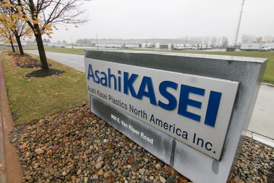 Adjacent to the drive leading into Asahi Kasei, shown Thursday, Oct. 31, 2019, is CZ Cartage, into which Asahi Kasei is planning to expand.