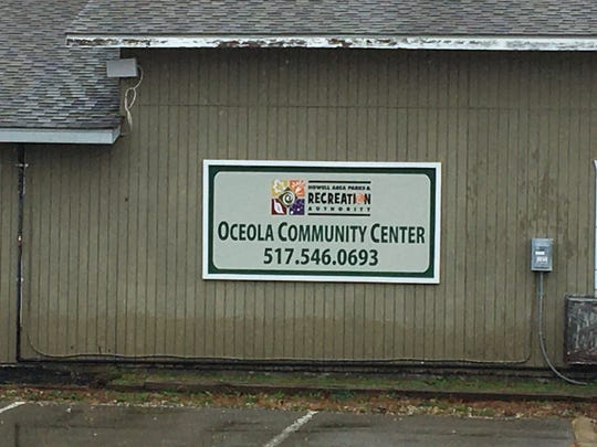 The outside of the Oceola Community Center at 1661 N. Latson Road in Howell. The township is exploring constructing a larger community center that would be operated by the Howell Area Parks and Recreation Authority.