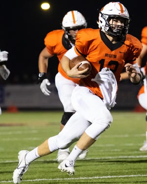 Brighton quarterback Colby Newburg got a taste of playoff football in the fourth quarter at East Kentwood last season.