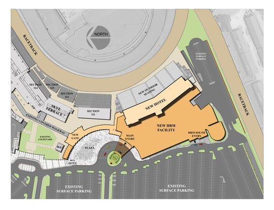 Churchill Downs announced a $300 million project to build a new hotel, historical racing machine facility and expanded seating by November 2021.