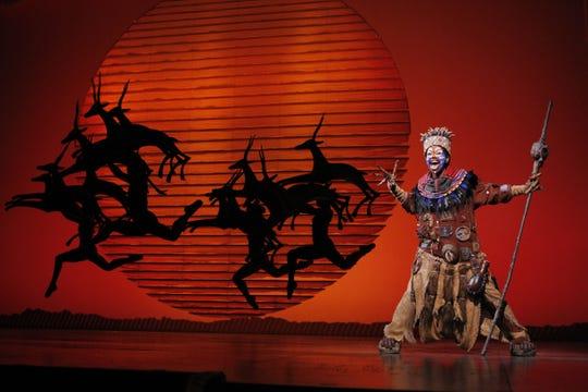"Buyi Zama as Rafiki in ""The Lion King"" North American Tour Disney"