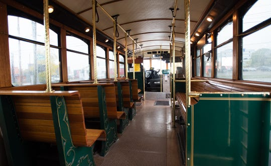 The interior inside one of CATA's Grab & Go trolleys Thursday, Oct. 31, 2019. Friday will be the last day of service on the route for both CATA trolleys.