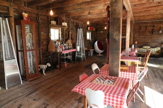 The first floor of Angela Janota's barn was turned into a place for social gatherings and parties.