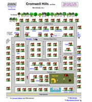 The Cromwell Hills neighborhood as designed by former resident Steve Schneider. It's an interactive website that   reveal photos of the residents who lived there in the late 1960s and early 1970s.