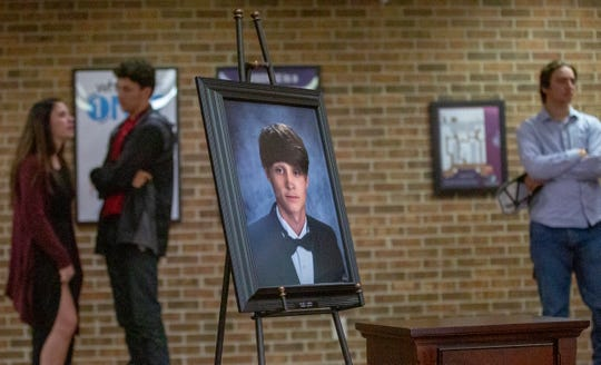 Family, friends and classmates of Tyler Revis gathered at Crossroads Community Church in Elmore to remember the Marbury High senior who died following a wreck.