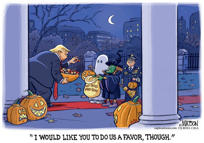 Trump asks for Halloween favor, though.