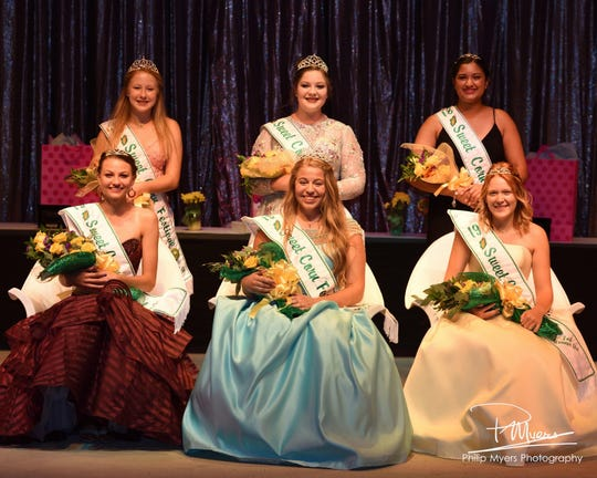 High school senior Lindsey Drumm is crowned at the 2019 Millersport Sweet Corn Festival.