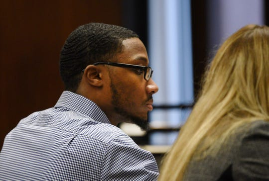 Khalil Wheeler-Weaver, 23, of Orange, who is charged in the deaths of three women in 2016, in Essex County Superior Court. October 31, 2019.
