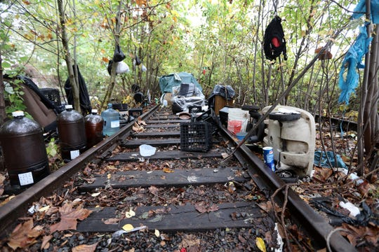 A place where trains used to pass through is now a place where the homeless call home in Passaic. Wednesday, October 30, 2019