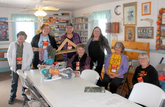 Members of the Loners on Wheels RV Club participated in a weaving class Wednesday given by Pam Uribarri of Weaver's Shuttle in Deming, NM. Members from all over are in Deming this week for the 50th anniversary rally of LoW.