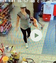 Doña Ana County Sheriff detectives believe this woman used a stolen credit card Oct. 19, 2019, at two businesses in the county.
