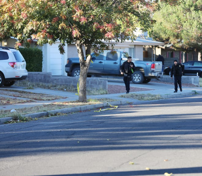 Police investigating a shooting on Myrtle Avenue, Wednesday Oct. 30, 2019.