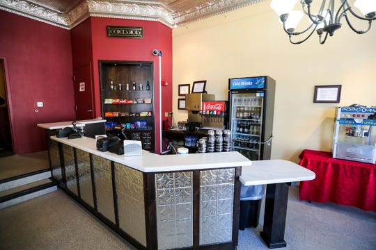 Concession area at the Rio Grande Theatre in downtown Las Cruces,  Thursday, Oct. 31, 2019.